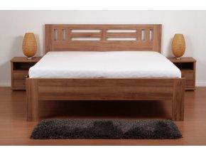 postel Ella Moon, imitace masivního dřeva, dekor ořech natur