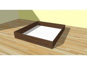 Úložný prostor s pevným dnem - imitace dřeva (Dekor Třešeň Romana, Rozměr 90 x 200 cm)