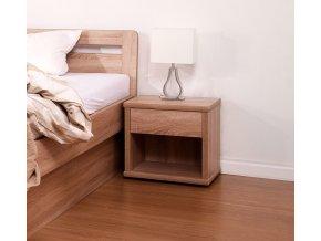 Noční stolek široký - imitace dřeva