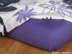 Prostěradlo jersey napínací - barva purpur