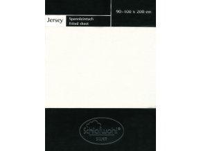 Schlafwohl Silver prostěradlo 90/100 x 200 cm - krémová