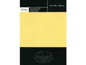 Schlafwohl Silver prostěradlo 90/100 x 200 cm - světle žlutá