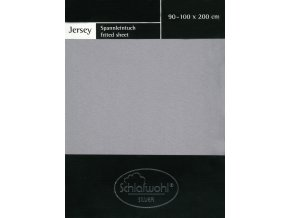 Schlafwohl Silver prostěradlo 90/100 x 200 cm - šedá