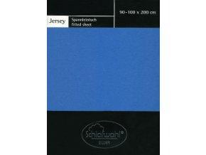 Schlafwohl Silver prostěradlo 90/100 x 200 cm - modrá