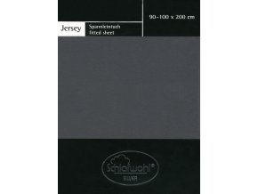 Schlafwohl Silver prostěradlo 90/100 x 200 cm - antracit