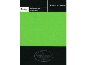 Schlafwohl Silver prostěradlo 90/100 x 200 cm - zelená