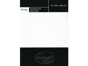 Schlafwohl Silver prostěradlo 90/100 x 200 cm - bílá
