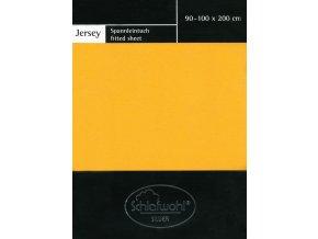 Schlafwohl Silver prostěradlo 90/100 x 200 cm - žlutá