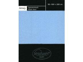 Schlafwohl Silver prostěradlo 90/100 x 200 cm - světle modrá