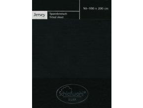 Schlafwohl Silver prostěradlo 90/100 x 200 cm - černá