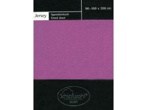 Schlafwohl Silver prostěradlo 90/100 x 200 cm - fialová
