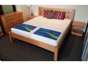 Výprodejový set - postel Kira + komoda + noční stolky