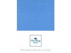Every jersey prostěradlo - modrá