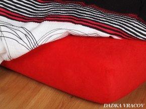 Prostěradlo froté napínací - barva červená