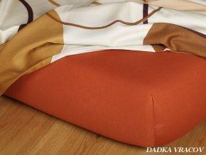 Prostěradlo jersey napínací - barva cihlová