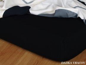 Prostěradlo jersey napínací - barva černá