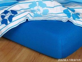 Prostěradlo jersey napínací - barva modř královská
