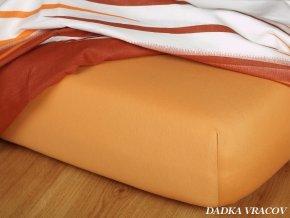 Prostěradlo jersey napínací - barva karamel