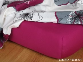 Prostěradlo jersey napínací - barva ostružinová