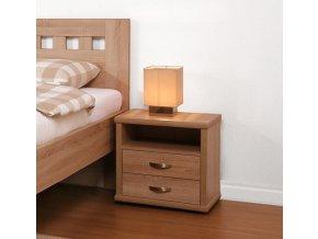 Dvouzásuvkový noční stolek