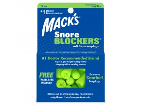 Macks snore blockers Ear Plugs 12 pair