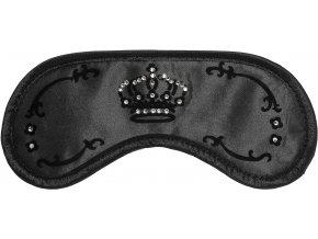 Maska na spaní - Daydream Swarovski Crown Black