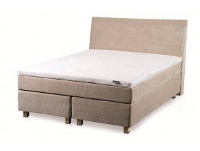 Tropico Original box bed HILLS (Čalounění Barva pouště (camel), Noha Select dub přírodní, Rozměr 180 x 200 cm, Výška nohy 15 cm)