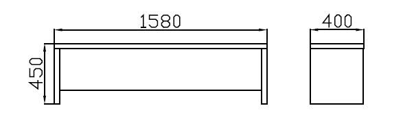 Lavice před postel s úložným prostorem - buk Moření: B0