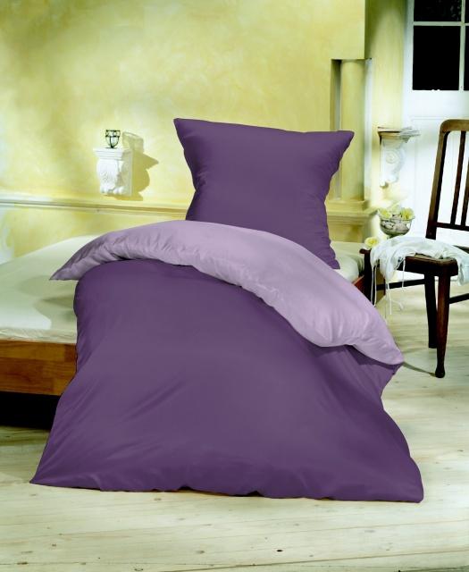 Povlečení bavlněný satén fialová/sv.fialová Rozměr: 1x 70 x 90 a 1x 140 x 200 cm