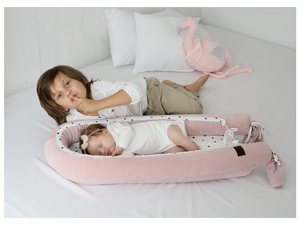 HNÍZDEČKO PRO MIMINKO SLEEPEE NEWBORN ROYAL BABY RŮŽOVÁ