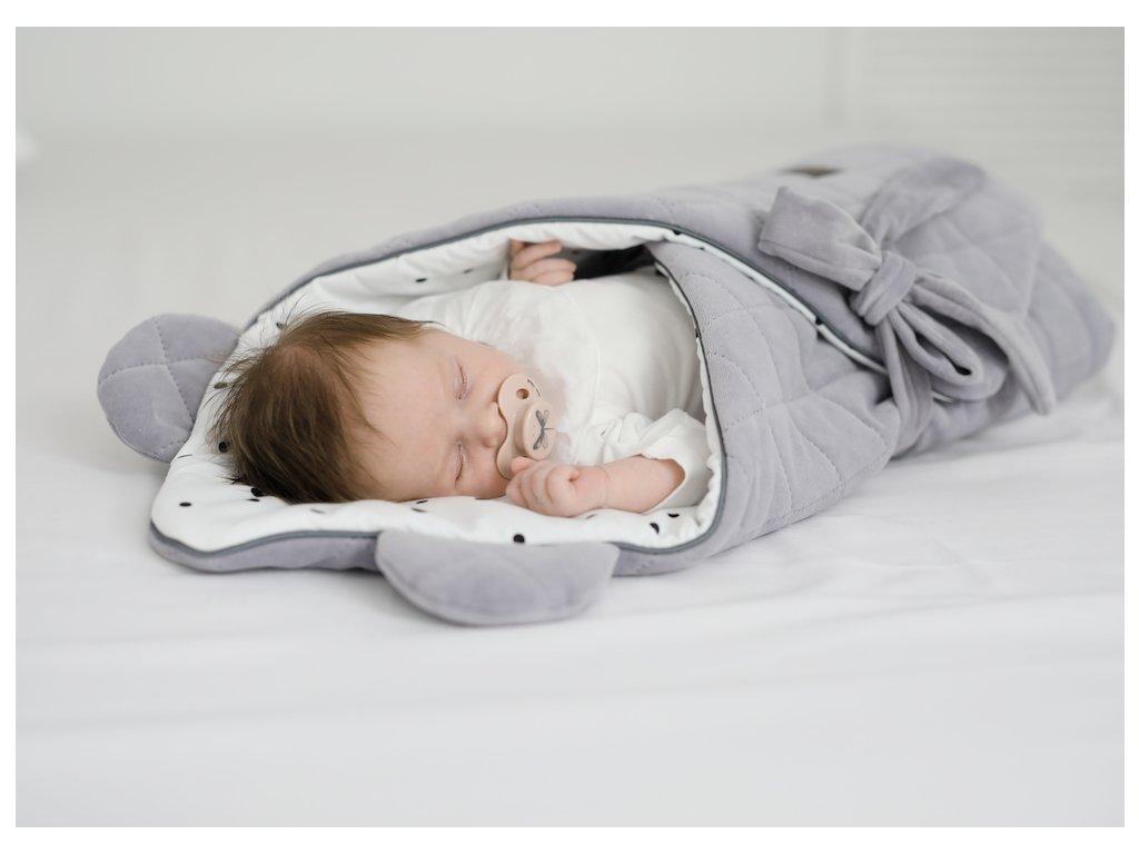Sleepee Zavinovačka Sleepee Royal Baby Swaddle Wrap růžová