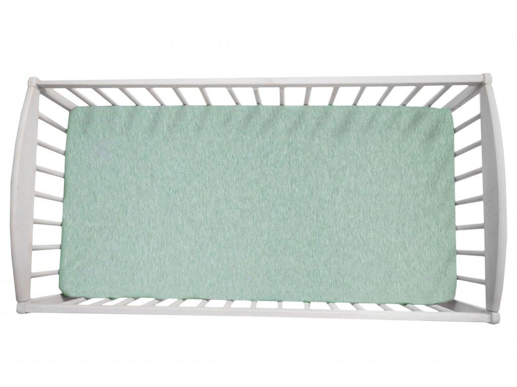 Prostěradlo Sleepee We Care pastelová mintová 140x70 cm