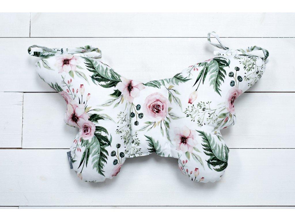 Sleepee Stabilizační polštářek Sleepee Butterfly pillow květiny