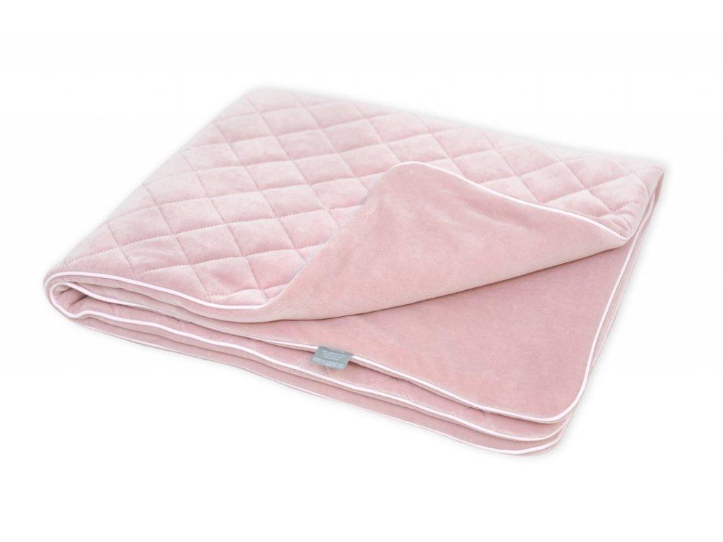 Sametová deka Sleepee Royal Baby růžová 1