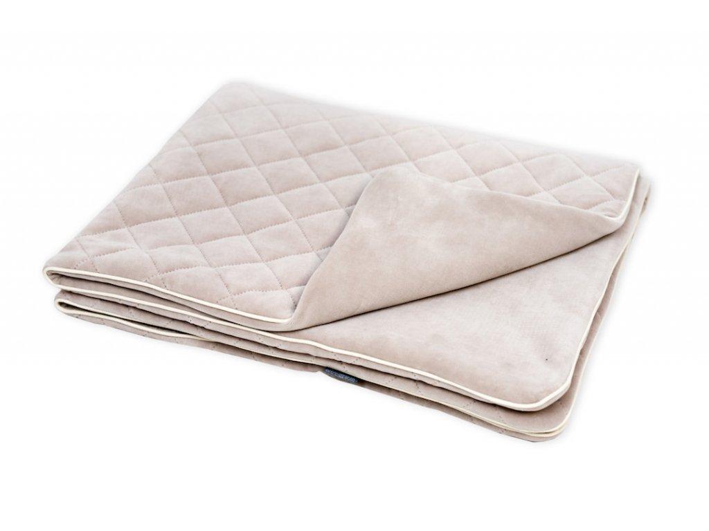 Sametová deka Sleepee Royal Baby písková 1