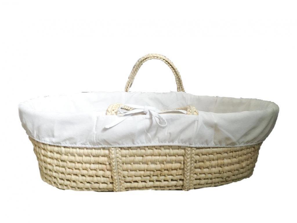Ahojbaby Potah do Mojžíšova košíku pro miminko White