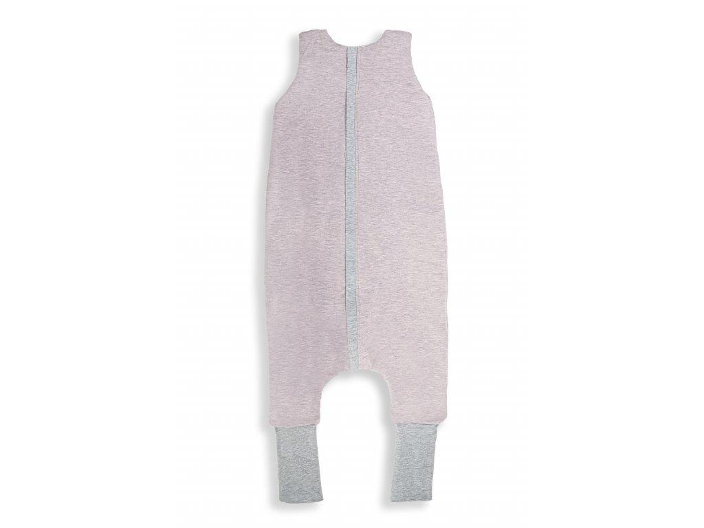 Oboustranný spací pytel s nohavicemi Melange Pink S