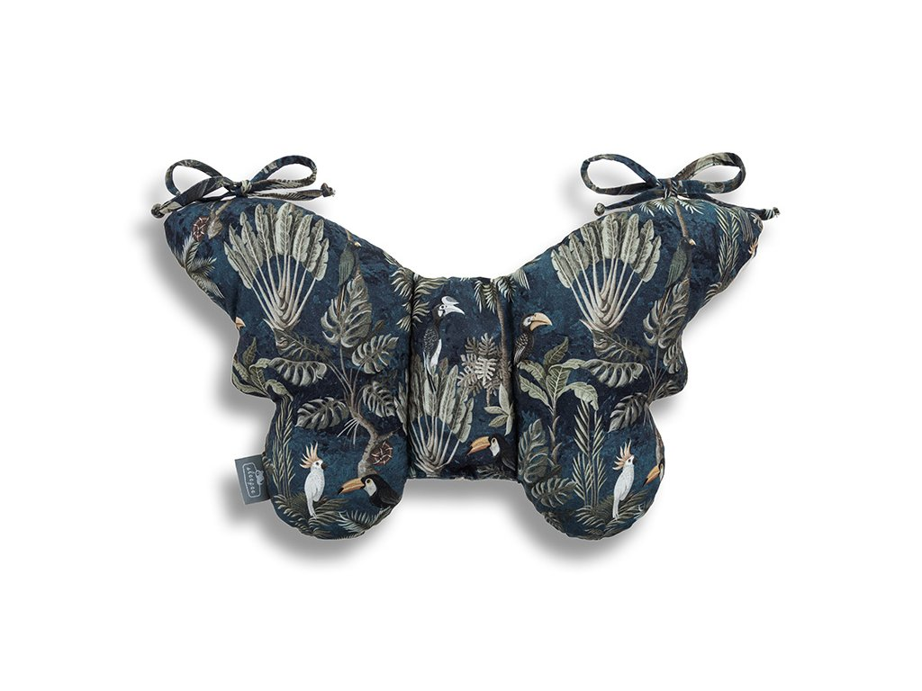 Stabilizační polštářek Sleepee Butterfly pillow Jungle Dark Blue (2)