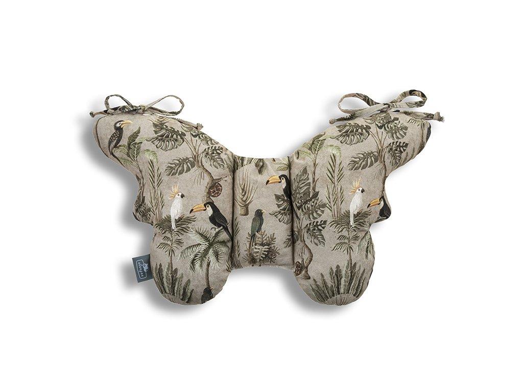 Stabilizační polštářek Sleepee Butterfly pillow Jungle Khaki