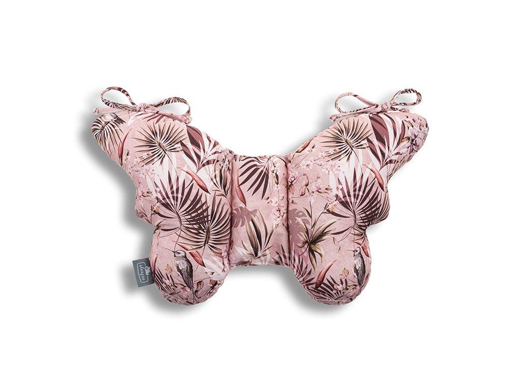 Stabilizační polštářek Sleepee Butterfly pillow Jungle Powder Pink