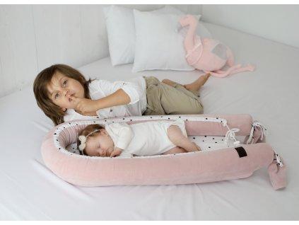 Sleepee Hnízdečko pro miminko Sleepee Newborn Royal Baby růžová