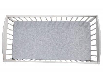 Prostěradlo do postýlky Sleepee We Care pastelová šedá 140x70 cm