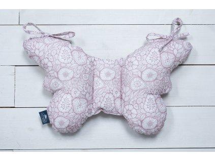 Sleepee Stabilizační polštářek Sleepee Butterfly pillow růžová