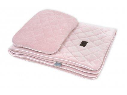 Sleepee Royal Baby Set růžový sametová deka + polštářek 1