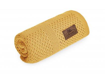 Bambusová deka Sleepee Ultra Soft Bamboo Blanket hořčicová