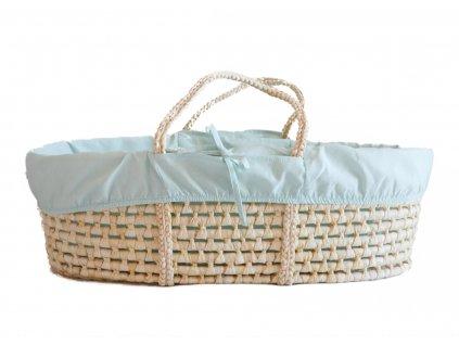 Ahojbaby Potah do Mojžíšova košíku pro miminko Mint