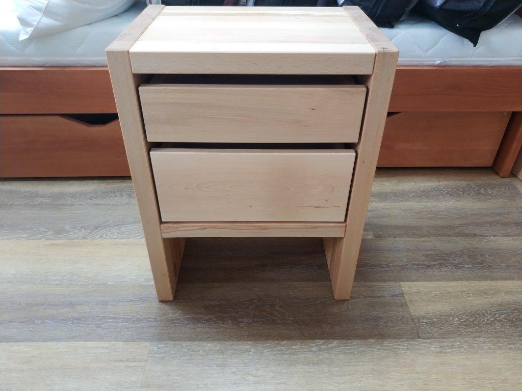 Noční stolek se 2 zásuvkami zvýšený