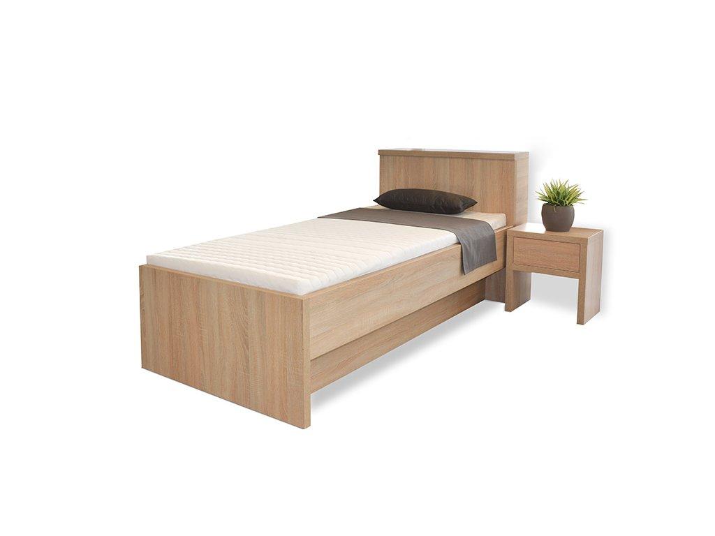 postel Tropea box dub svetly jednoluzko