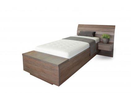 postel Salina Box dub hnedy jednoluzko