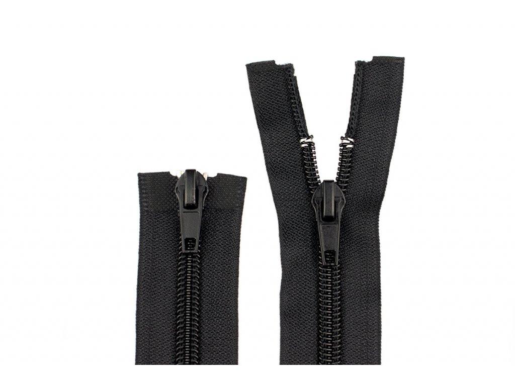 Zip spirálový 5mm 2jezdci 80cm